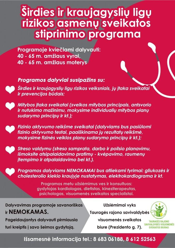 nemokama informacija apie širdies sveikatą hipertenzija 1 ir 2 laipsnių rizika