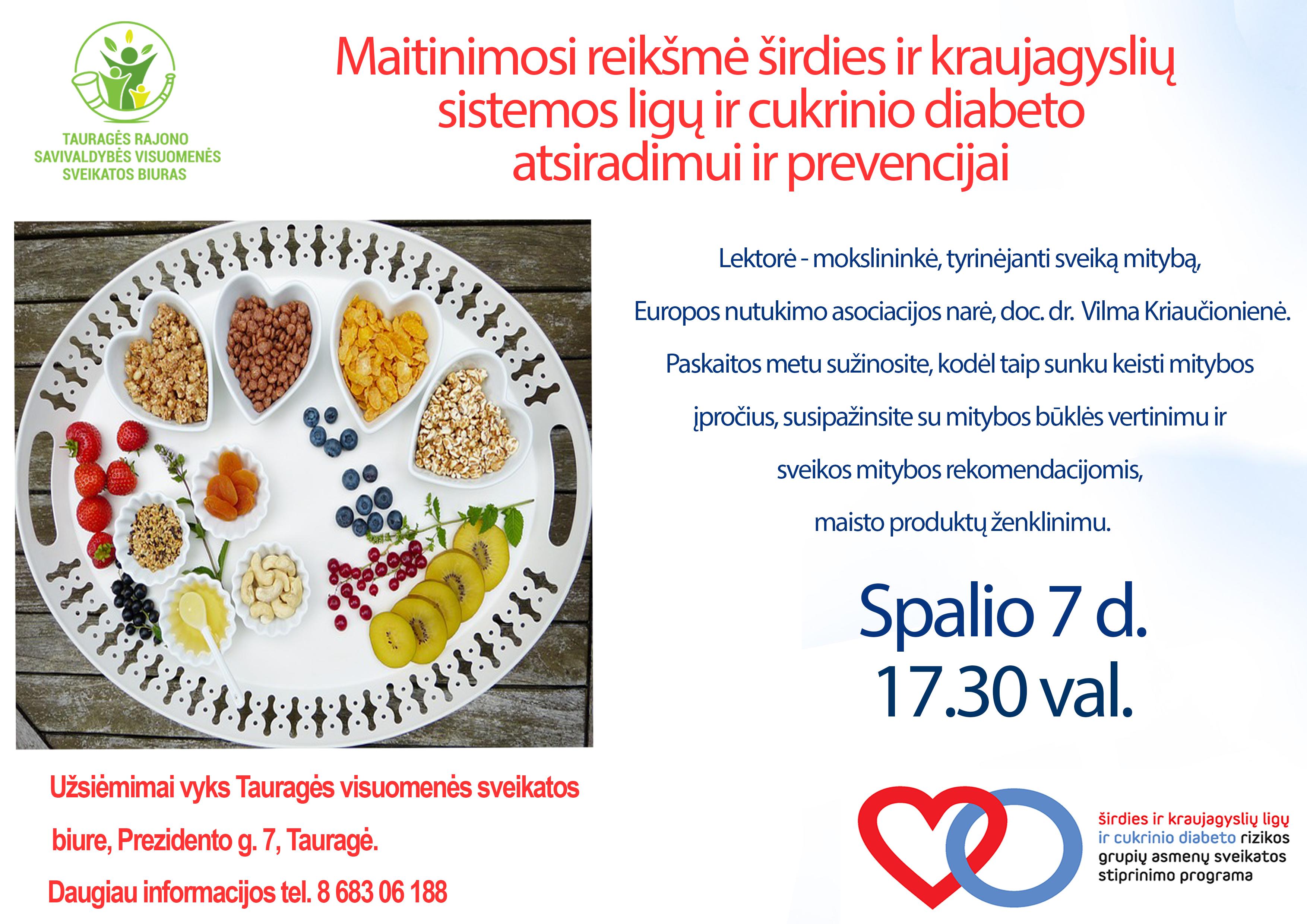 mitybos rekomendacijos širdies sveikatai